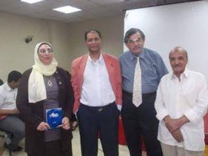 الشاعر ناصر رمضان وأصدقائه